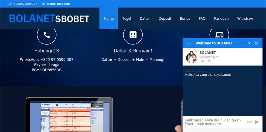 Website Judi Bola BolaNet